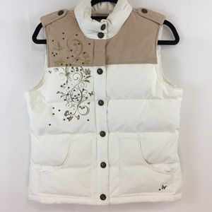 Old Navy Puffer Vest with Butterflies